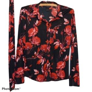 Express World Brand Blouse - Floral Matching Scarf